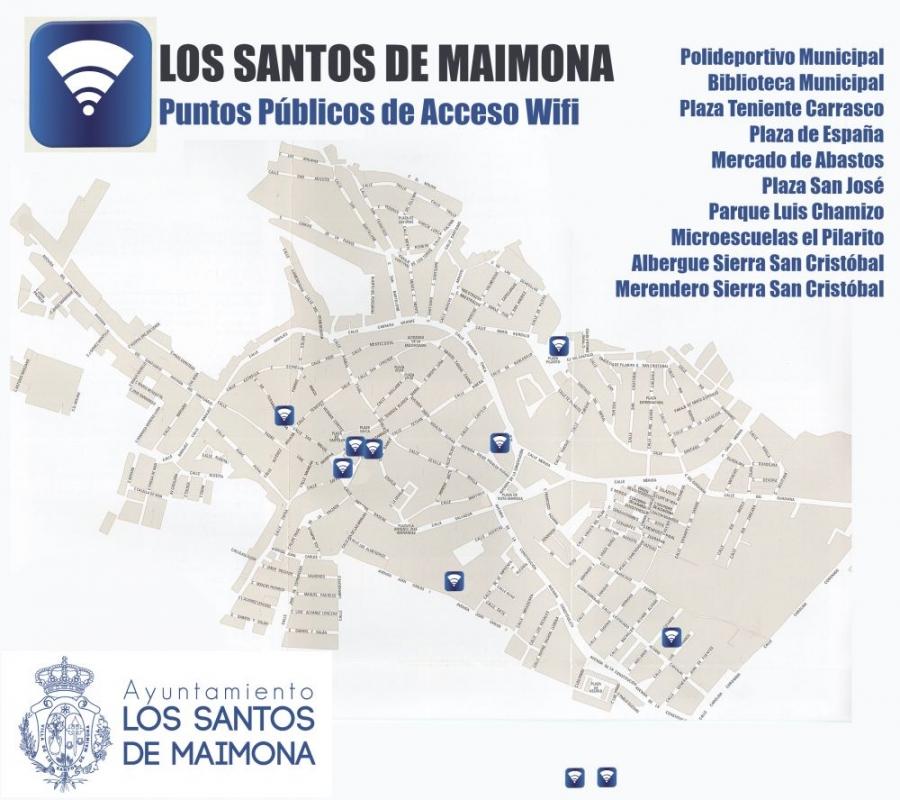Los Santos de Maimona cuenta ya con 10 espacios públicos con acceso gratuito a internet