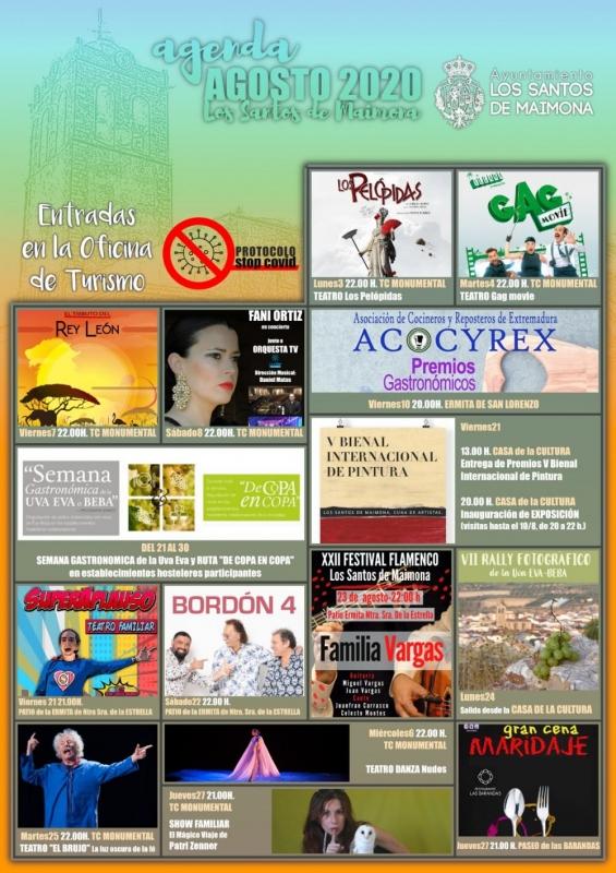 Teatro, música, gastronomía o arte, en el agosto cultural de Los Santos de Maimona