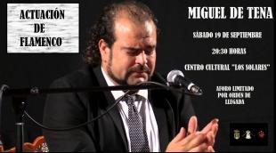 Miguel de Tena actuará el próximo sábado en Valencia del Ventoso