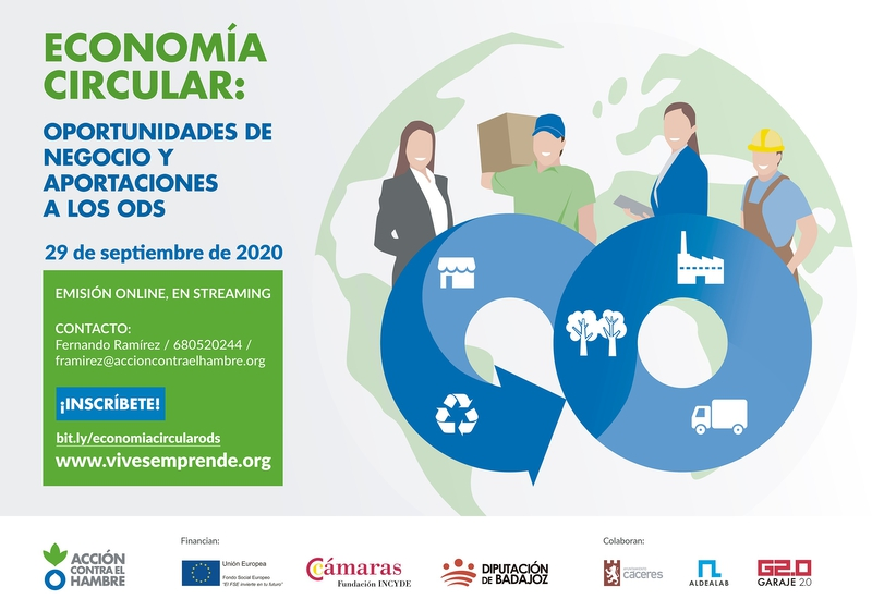 El CID Zafra – Río Bodión acogerá una jornada online para hablar sobre el emprendimiento circular y sostenible