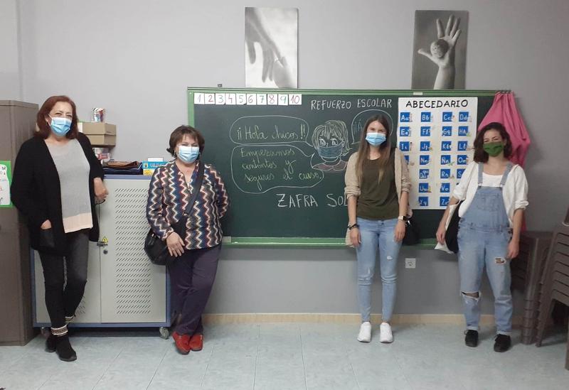Zafra Solidaria retoma el próximo lunes 19 de octubre sus clases de refuerzo escolar