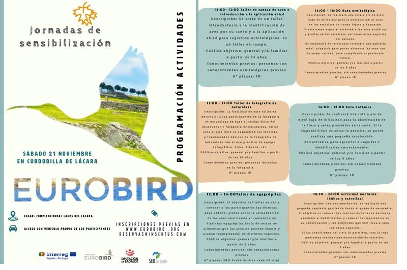Burguillos del Cerro acogerá una jornada ornitológica de sensibilización en el marco del proyecto EUROBIRD