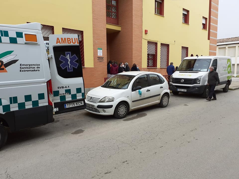 Los mayores de la Residencia José González Barrero de Zafra reciben hoy la segunda dosis de la vacuna