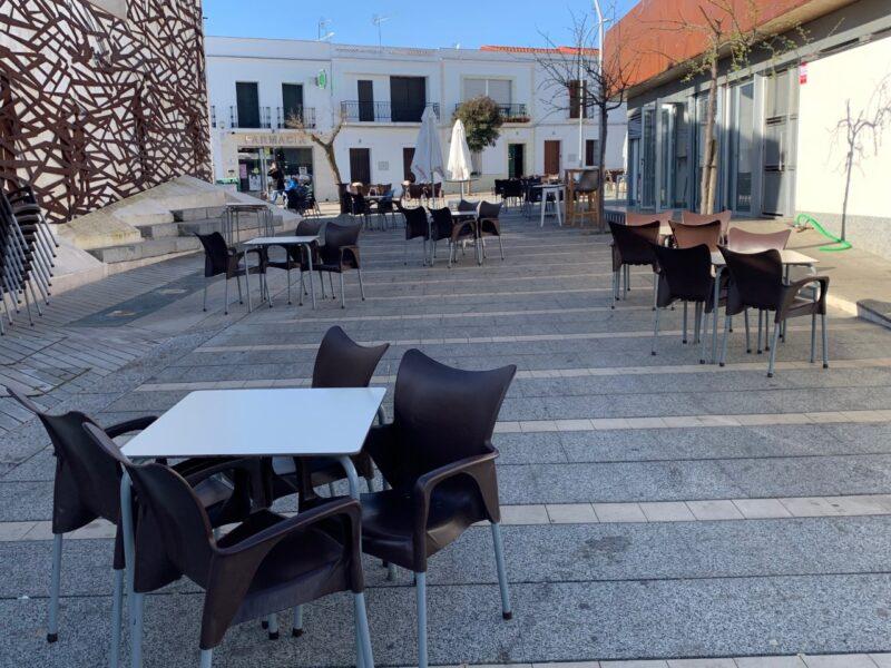 La tasa por terrazas y veladores tampoco se cobrará en Los Santos de Maimona durante 2021