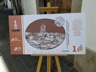El nuevo billete de Varamedí presentado hoy en Zafra entrará en circulación próximamente