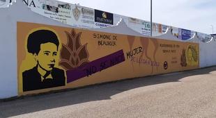 Inaugurado en Zafra un mural por el Día Internacional de la Mujer elaborado por la Asociación Juvenil P`al Pueblo