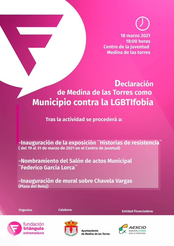Medina de las Torres se suma a la Red de Municipios Contra la Homofobia y la Transfobia