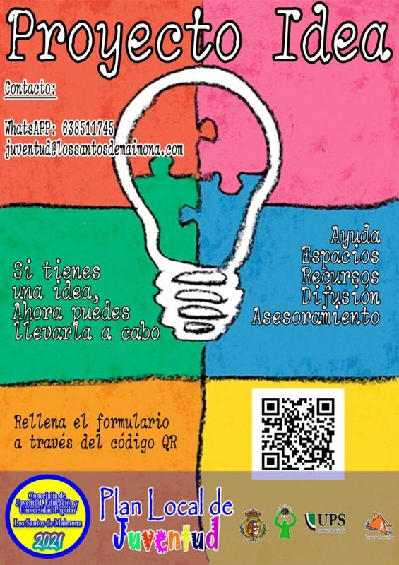 El Ayuntamiento de Los Santos de Maimona lanza el `Proyecto Idea´, incluido en el Plan Local de Juventud 2021