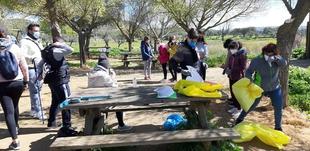 17kg de basuraleza se recogían en Valencia del Ventoso este pasado sábado
