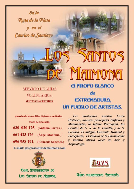 El Grupo de Guías Voluntarios de Los Santos de Maimona retomará a partir del 9 de mayo su servicio de visitas guiadas