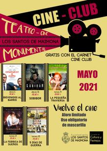 El Cine Club volverá a abrir sus puertas en mayo en el Teatro Cine Monumental de Los Santos de Maimona