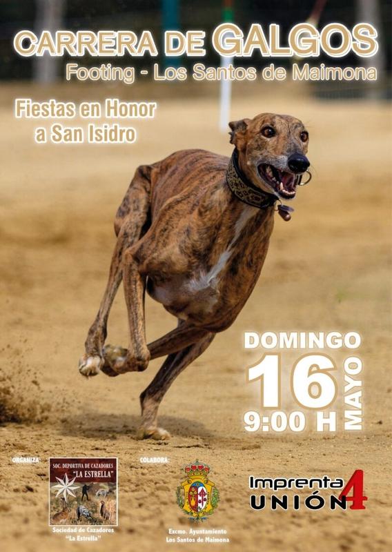 La Sociedad Deportiva de Cazadores `La Estrella´ organiza una carrera de galgos por San Isidro