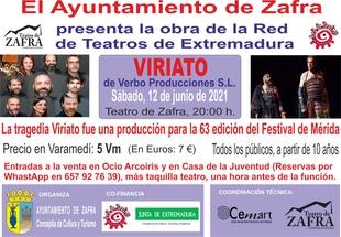 La tragedia `Viriato´ se representa en el Teatro de Zafra el próximo sábado 12 de junio
