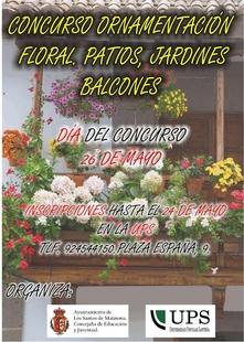 El ayuntamiento convoca un concurso ornamentación floral en patios, jardines y balcones