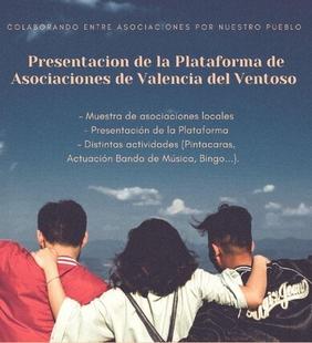 (APLAZADO)Mañana viernes tendrá lugar la Muestra y Presentación de la Plataforma de Asociaciones de Valencia del Ventoso