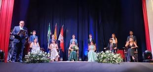 Comenzaron las Fiestas del Cristo 2021 en Fuente del Maestre con el pregón, proclamación de reina, míster y damas y la función solemne