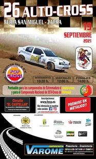 Un total de 30 pilotos participarán en la XVI edición del Autocross Feria de San Miguel-Zafra este domingo
