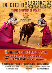 Zafra acoge el próximo domingo la final del IX Ciclo de Clases Prácticas de Escuelas taurinas Trofeo Diputación de Badajoz