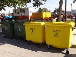 Promedio y el Ayuntamiento de Zafra promueven el reciclaje de plásticos, latas y briks en la Feria