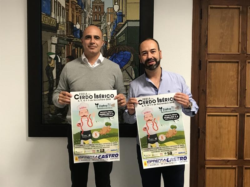 El Ayuntamiento y Zafra Gastronómica presentan el cartel de la III Feria del Cerdo Ibérico