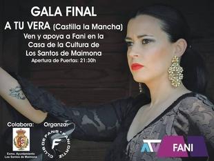 La santeña Fanny Ortiz estará en la final del programa A tu vera, que se emitirá en directo desde la Casa de la Cultura