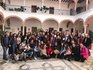 El alcalde de Zafra recibe a los alumnos de Rambouillet