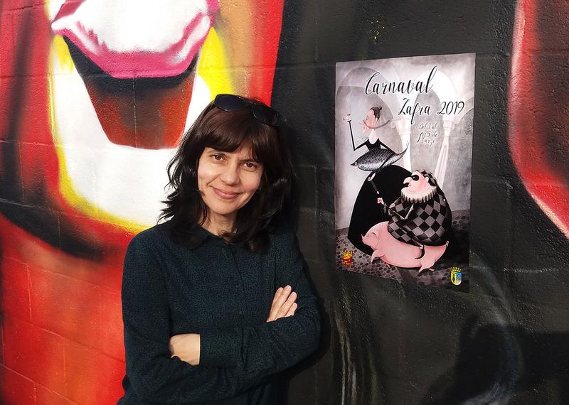 La zafrense Ángela Sánchez se muestra muy agradecida por elegir su cartel para anunciar el Carnaval de Zafra
