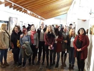 Nueve artistas de Zafra exponen sus pinturas en la Casa de la Cultura para conmemorar el Día de la Mujer