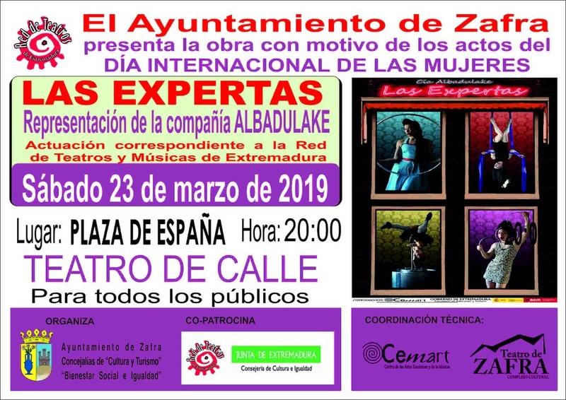 El Excmo. Ayuntamiento de Zafra presenta la obra con motivo de los actos del Día Internacional de las Mujeres