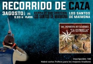 La Sociedad Deportiva de Cazadores La Estrella de los Santos de Maimona organiza un recorrido de caza