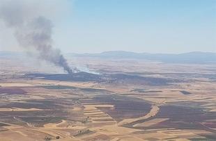 Declarado el nivel 1 de peligrosidad por un incendio en Calzadilla de los Barros