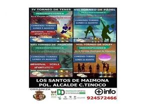 La Escuela de Deportes de Los Santos de Maimona organiza cuatro torneos durante el mes de agosto