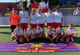 La expedición fontanesa participó en el XIV Torneo de Fútbol 7 de la Confederación de Peñas del F.C. Barcelona