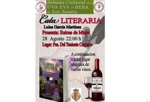 Vino y Literatura en la cata pública que celebra la Asociación Cultura Eva Beba de Los Santos