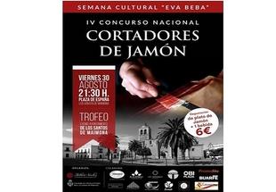 Los más prestigiosos cortadores de jamón se darán cita mañana en el IV Concurso Nacional de la Santos de Maimona