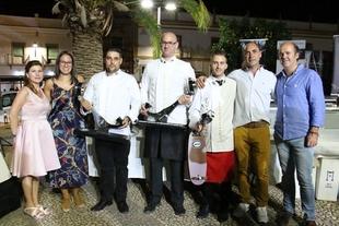Antonio Escribano, triunfador en el IV Concurso Nacional de Cortadores de Jamón de Los Santos de Maimona