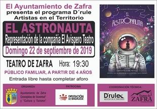 Los más pequeños podrán disfrutar del teatro 'El Astronauta' en el Teatro de Zafra