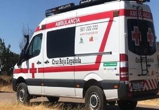 Cuatro heridos, dos de ellos graves, en el choque entre dos turismos y una moto cerca de Los Santos de Maimona