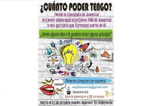 El Ayuntamiento de Los Santos convoca a los jóvenes para participar en el diseño del Plan Local de Juventud