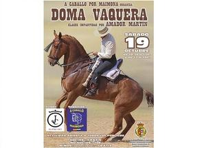 A Caballo por Maimona ofrece este sábado una clase magistral de Doma a la Vaquera