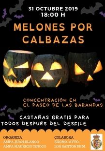 Llegan por Halloween los `Melones por Calabazas´en Los Santos de Maimona