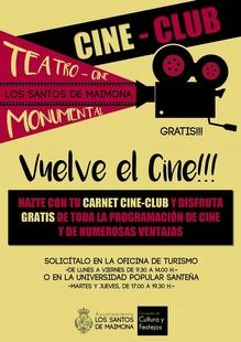 Este noviembre, vuelve el cine al Monumental de Los Santos de Maimona